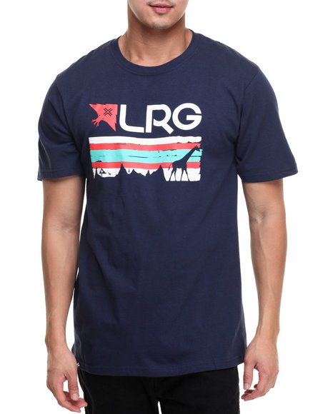 Lrg Men Astro Stripe T-Shirt Navy Small