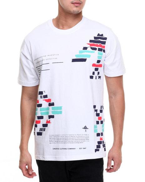 Lrg Men Glyph Blocks T-Shirt White Medium