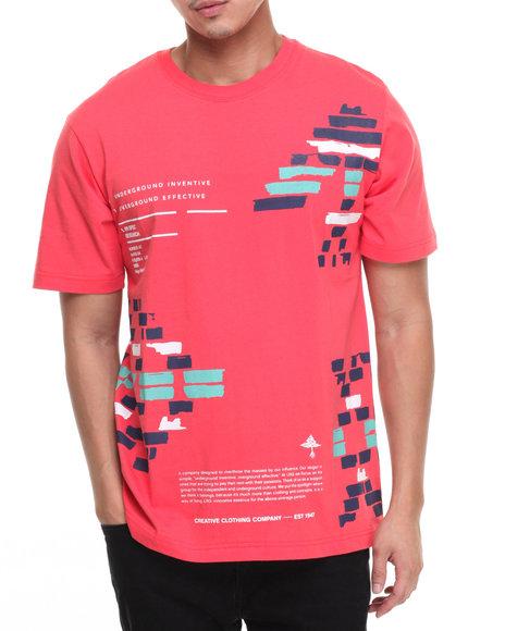 Lrg Men Glyph Blocks T-Shirt Red Large