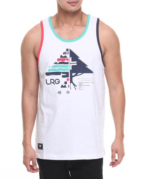 Lrg Men Switch Stripes Tank White Large