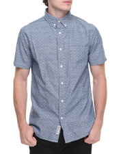 Men - Microprint S/S Chambray Button-Down