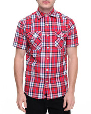 Enyce - S/S Plaid Button-Down