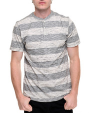 Men - Striped S/S Henley