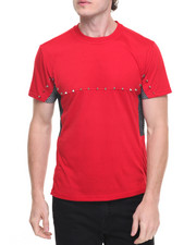 Men - Mesh Panel Punk Athleisure Tee