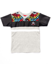 Boys - V-NECK CUT & SEW TIE DYE TEE (4-7)