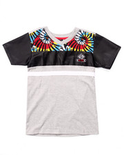 Boys - V-NECK CUT & SEW TIE DYE TEE (8-20)