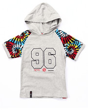 Boys - S/S HOODED TIE DYE RAGLAN TEE (4-7)