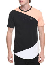 Men - Tri Color Zipper S/S Tee