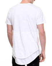 Men - DBL Layer Elongated Zip Tee