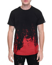 Men - Paint brushstroke Elongated Tee