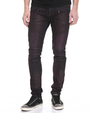 Men - Square Zero Burg Waxed Moto Jean