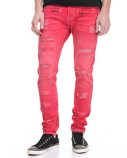 Jeans & Pants - Square Zero Red Rip Moto Jean