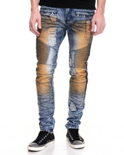 Men - Square Zero Mud Overdye Moto Jean
