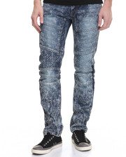 Men - Embossed Vintage Moto Jean