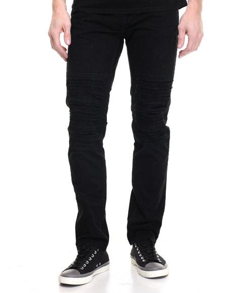 Buyers Picks Men Distressed Twill Pants Black 34x32