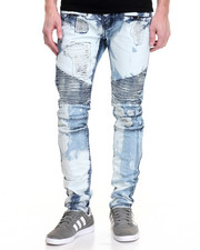 Jeans & Pants - Square Zero Bleached Out Biker Jean
