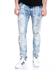 Jeans & Pants - Bleached Distressed Jogger Jean