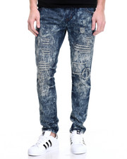 Jeans & Pants - Indigo Distressed Jogger Jean