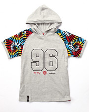 Boys - S/S HOODED TIE DYE RAGLAN TEE (8-20)