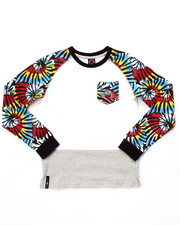 Sizes 8-20 - Big Kids - L/S TIE DYE RAGLAN (8-20)
