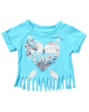 Sizes 4-6x - Kids - LOGO FRINGE TEE (4-6X)
