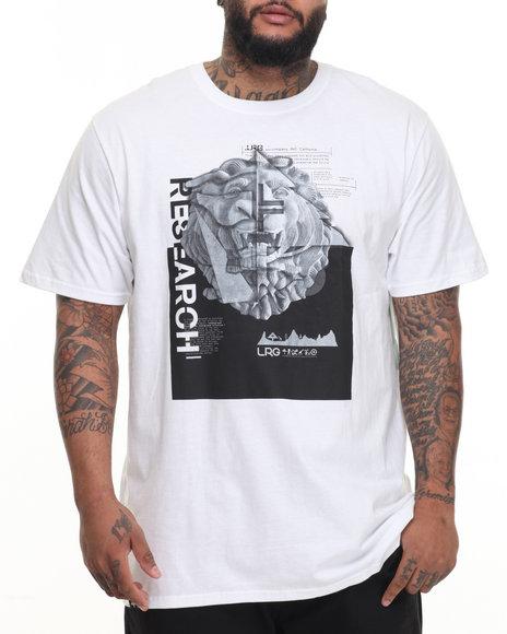 Lrg Men Stone Leo T-Shirt (B&T) White 4X-Large