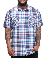 Men - S/S Plaid Button-Down (B&T)