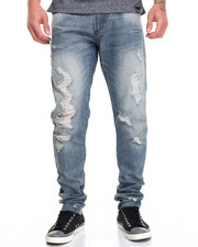 Men - MINIMAL SANDWASH DENIM JEANS
