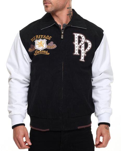 Pelle Pelle Men Soda Club Varsity Jacket Black Medium