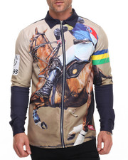 Button-downs - High Horse L/S Zip Up Shirt