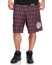 Men - PLAID MESH B - BALL SHORTS