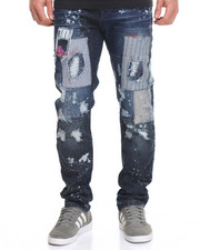 Jeans & Pants - Multi Patch w Paint Splatter Jean