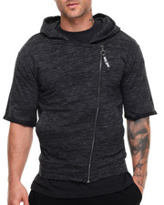 Buyers Picks - Melange S/S Raw Edge Hoodie