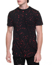 Men - Paint Splatter Elongated Tee