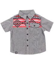 Button-downs - AZTEC CHAMBRAY WOVEN (2T-4T)