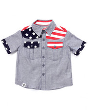 Tops - AMERICANA CHAMBRAY WOVEN (2T-4T)