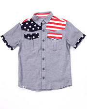 Button-downs - AMERICANA CHAMBRAY WOVEN (8-20)