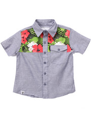 Boys - TROPICAL CHAMBRAY WOVEN (4-7)