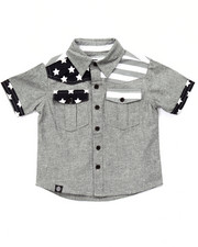 Button-downs - AMERICANA CHAMBRAY WOVEN (2T-4T)