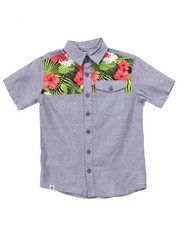 Akademiks - TROPICAL CHAMBRAY WOVEN (8-20)