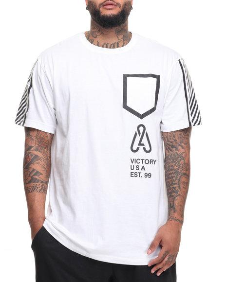 Akademiks Men Link T-Shirt (B&T) White 6X-Large