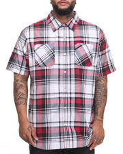 Akademiks - Stitch S/S Button-Down (B&T)