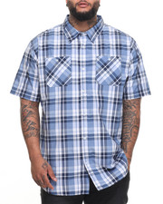 Akademiks - Dove S/S Button-Down (B&T)