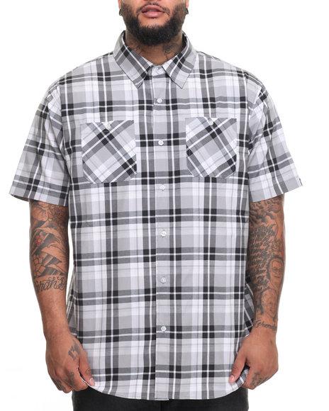 Akademiks Men Dove S/S Button-Down (B&T) Black 3X-Large