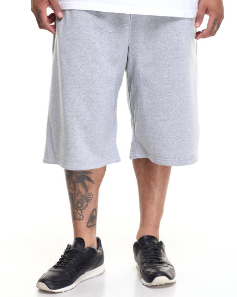 Akademiks Men Smoke Knit Short (B&T) Grey 3X-Large