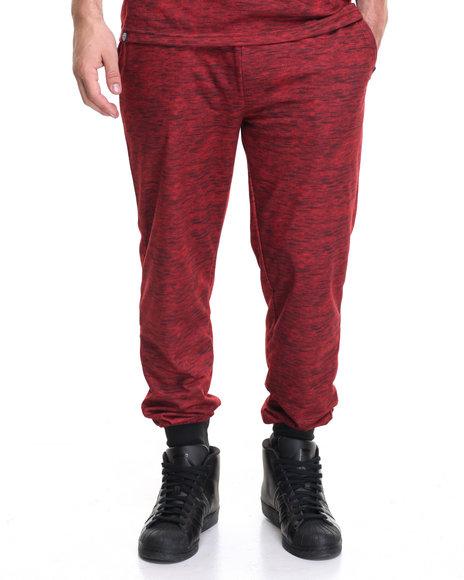 Akademiks Men Big Shot Printed Sweatpant Red Medium