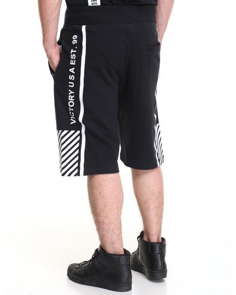Akademiks Men Border Sweatshort Black Large