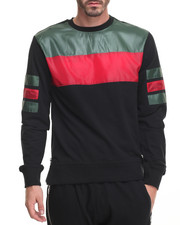 Sweatshirts & Sweaters - Green & Red Color block Sweatshirt - White
