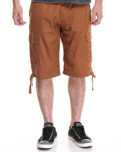 Akademiks Men Cameron Cargo Shorts Brown 32