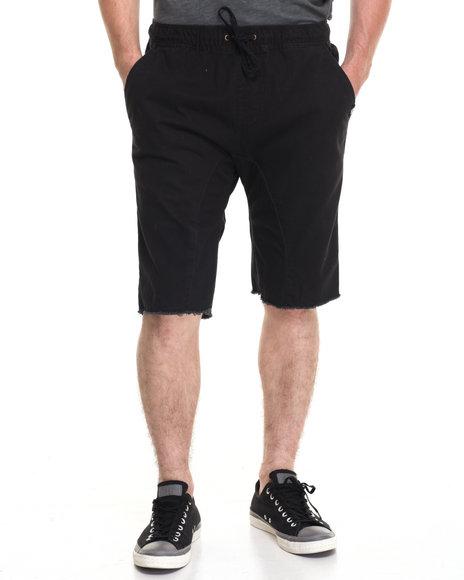 Akademiks Men Sureshort Washed Twill Short Black Large